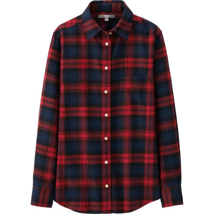 Flannel is always in.. My latest pick in Red from Uniqlo !