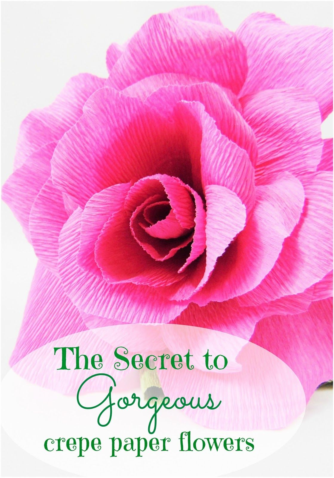 The Secret To Perfect Crepe Paper Flowers Paper Flowers Paper