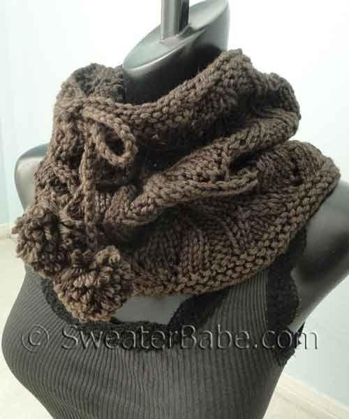 Knitting Patterns Galore Drawstring Lace Cowl Knitcowls