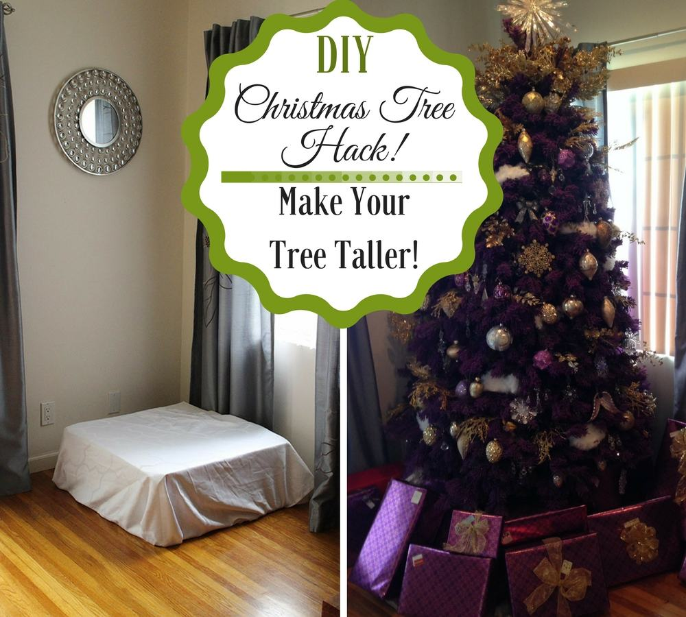 Diy Wooden Riser Box For Christmas Tree Google Search Diy Christmas Tree Diy Christmas Tree Topper Tall Christmas Trees