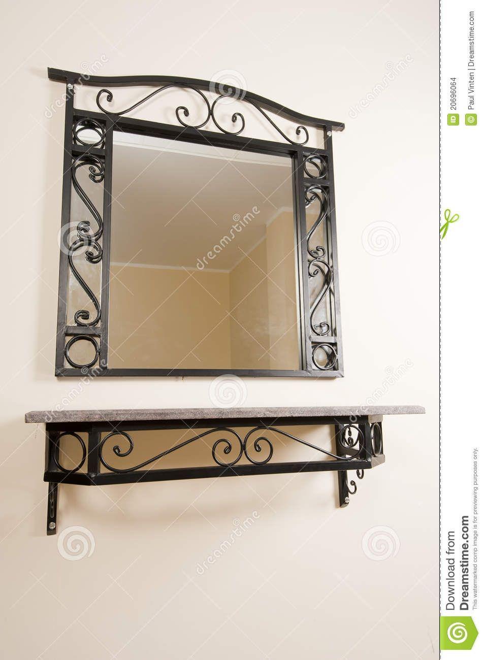 Wall mirror with shelf drrw pinterest shelves