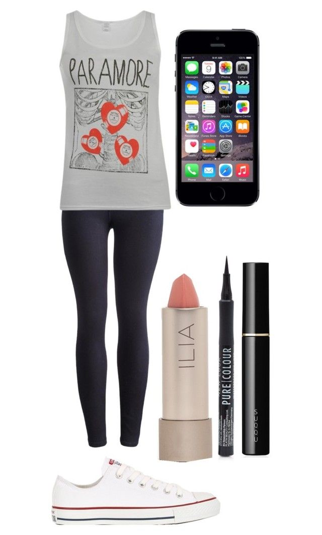 """""""Paramore"""" by imagine-youtubers ❤ liked on Polyvore featuring beauté, Joules, Converse, Ilia et SUQQU"""