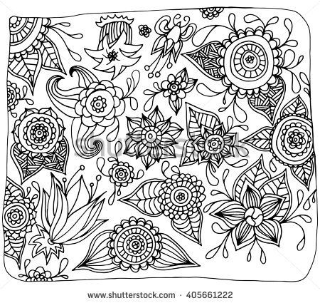 Page For Coloring Book Very Interesting And Relaxing Job Children Adults Henna Mehndi Doodles Design Tribal Element