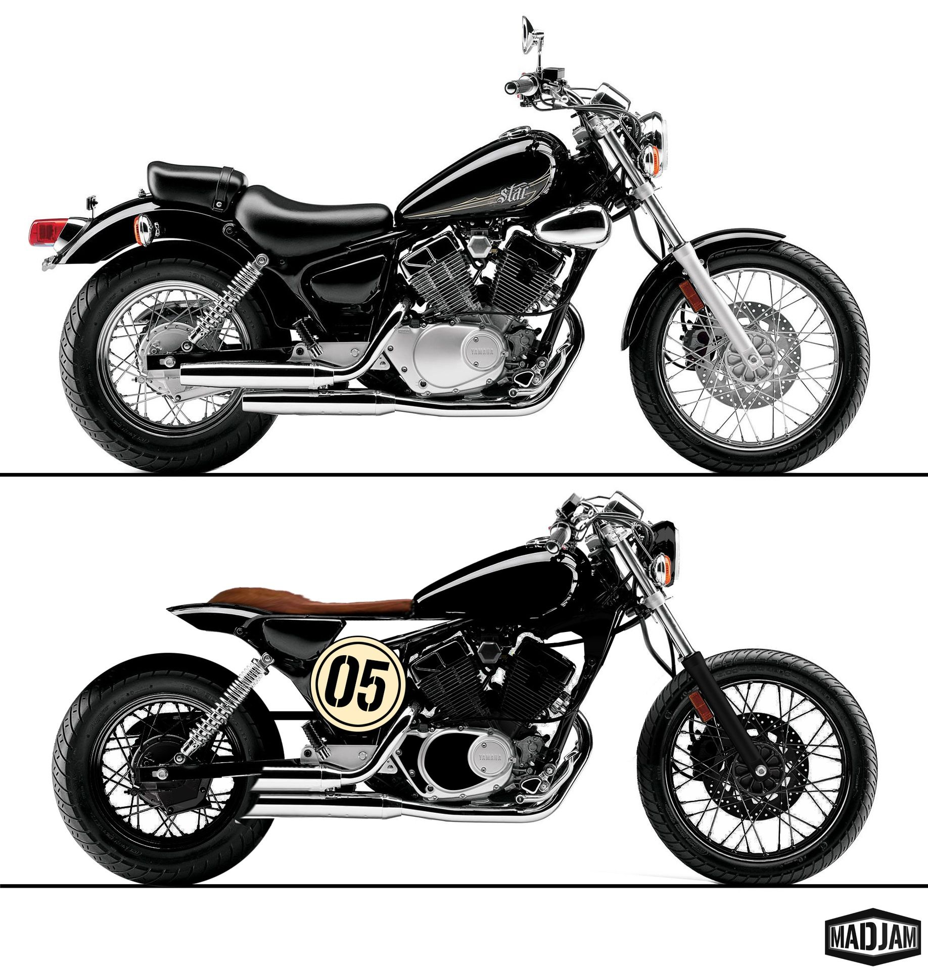 yamaha virago 250 cafe racer the image kid has it. Black Bedroom Furniture Sets. Home Design Ideas