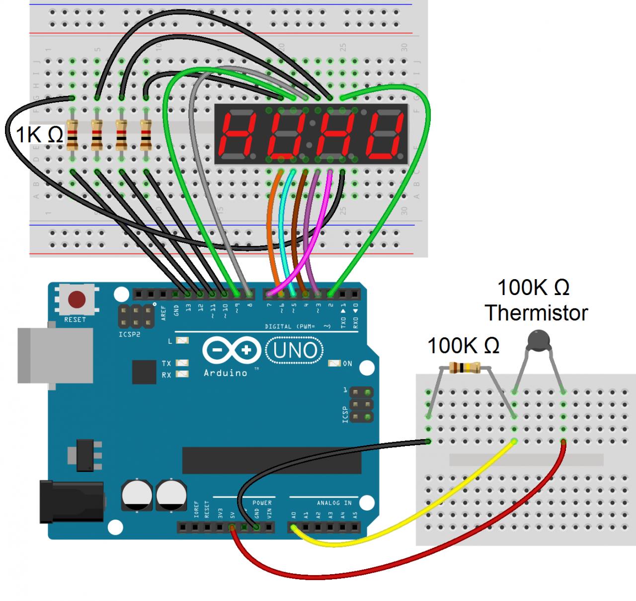 Seven-segment indicators. Practical electronics 57