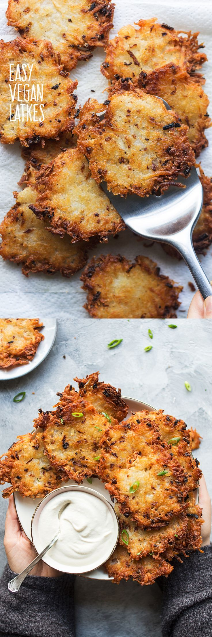 Easy eggless latkes