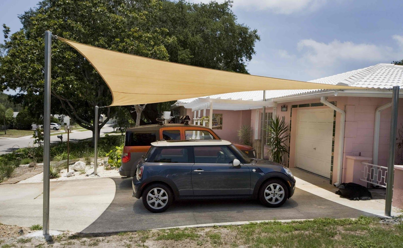 Shade Sail Structure In Uae Carport Shade Park Shade Pool Shade