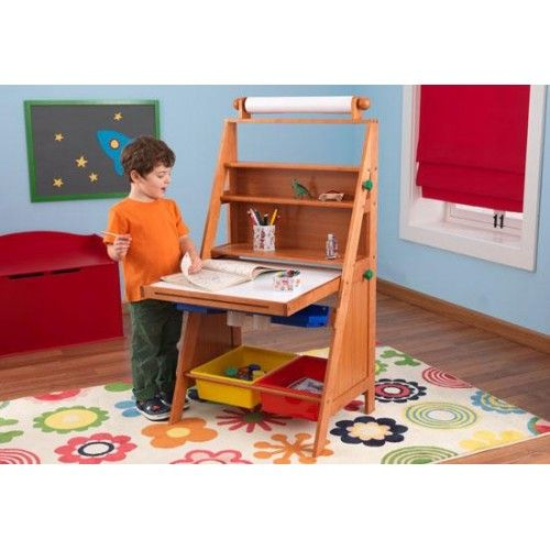 Kidkraft Art Easel Desk Let S Get Creative Our Gives Kids A Perfect Place