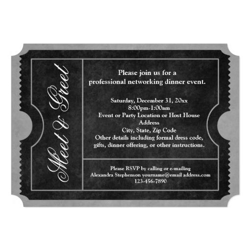 Meet and Greet Business Event Ticket Invitations | Zazzle ...
