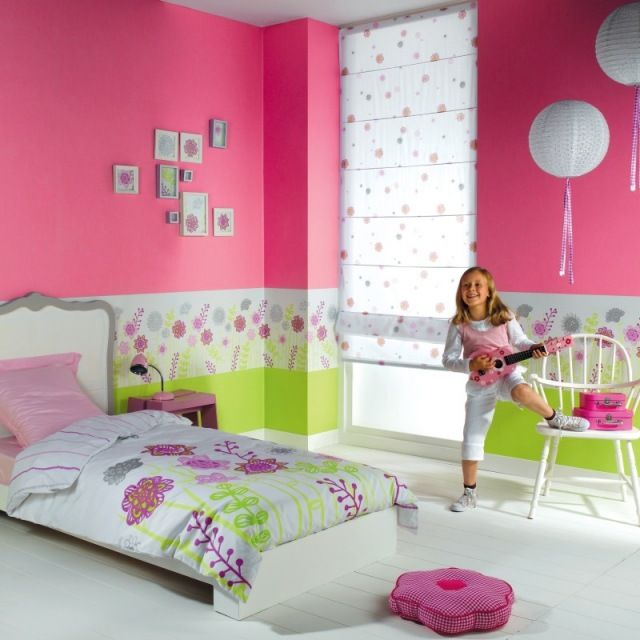 kinderzimmer wandgestaltung mit tapeten bord ren bunter. Black Bedroom Furniture Sets. Home Design Ideas