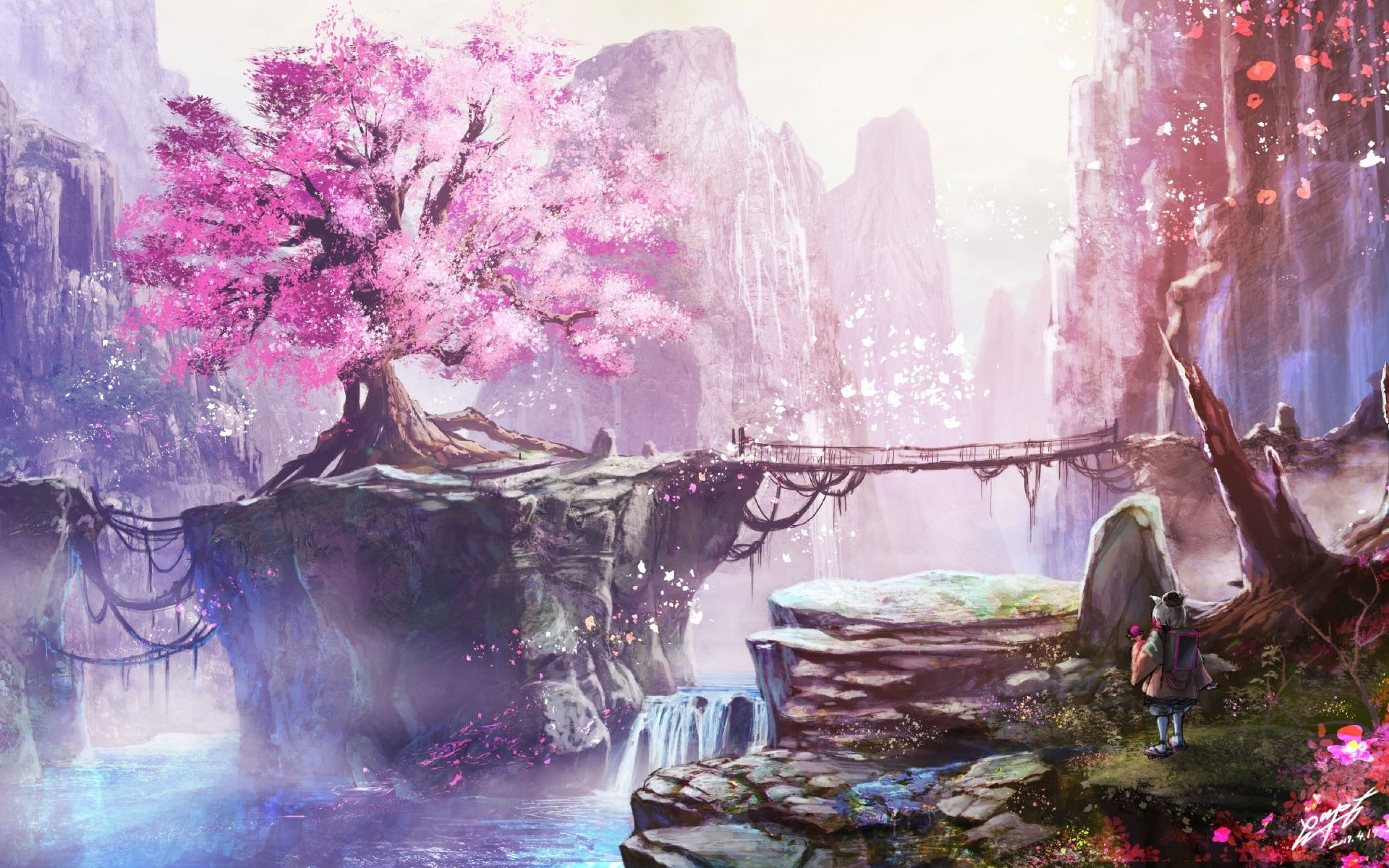 Anime cherry blossom tree music indieartist chicago