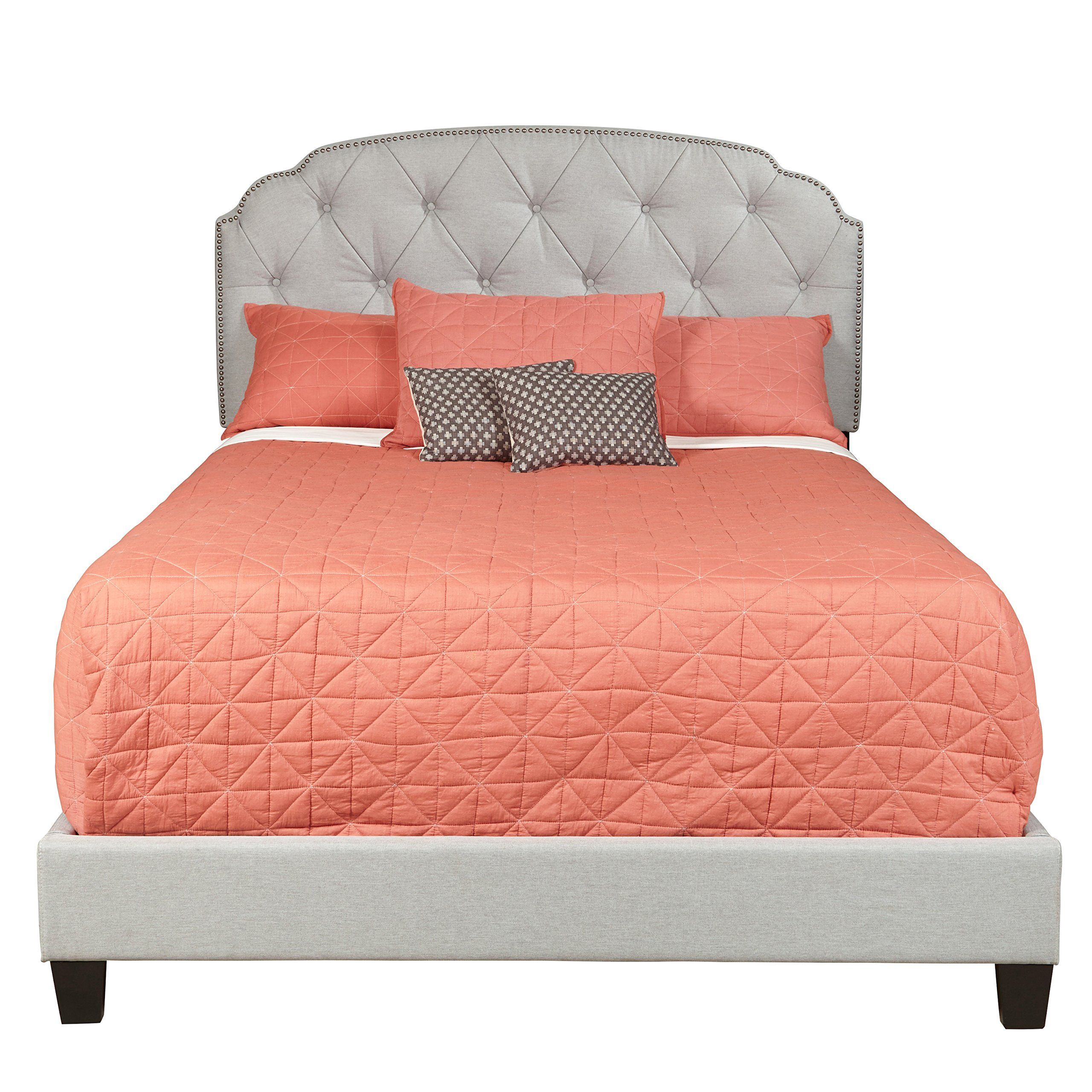 Amazon.com: Pulaski Channing Upholstered All-In-One Bed, Queen ...
