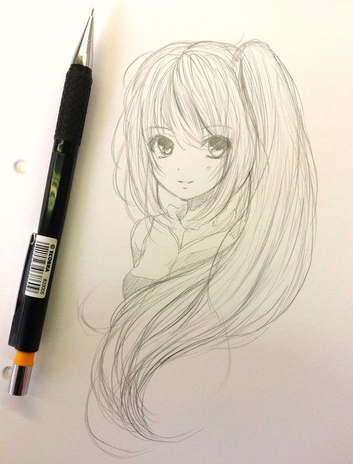 Anime drawing and draw image on we heart it