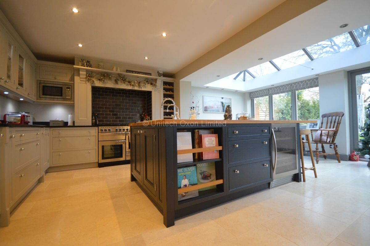 Burbidge Salcombe Grey And Charcoal Painted In Frame Kitchen By Unitech Oxon 3JPG 1200x797 Pixels