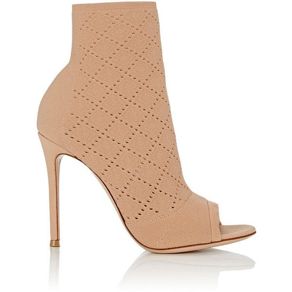 Womens Perforated Knit Ankle Boots Gianvito Rossi