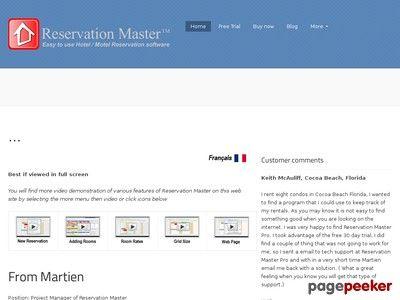 nice Reservation Master, Motel Hotel reservation software