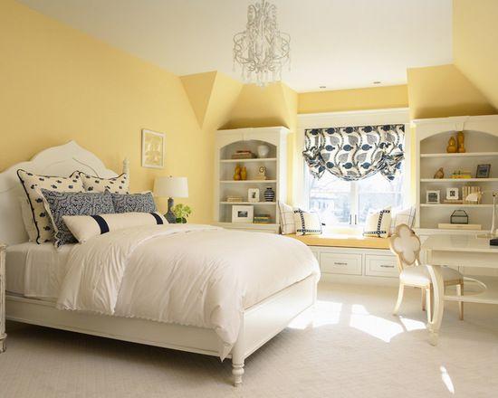 Benjamin Moore Traditional Yellow Bedroom Walls | Benjamin moore ...