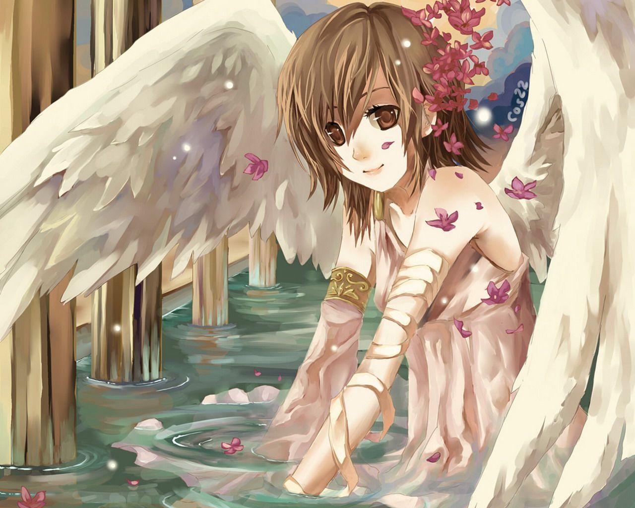 Tenshi (Angel) Anime Girl | Angel and Fairy | Pinterest | Ángeles ...