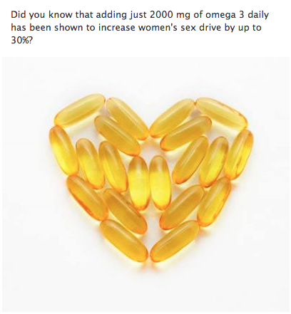 Will fish oil improve sex drive sorry, that