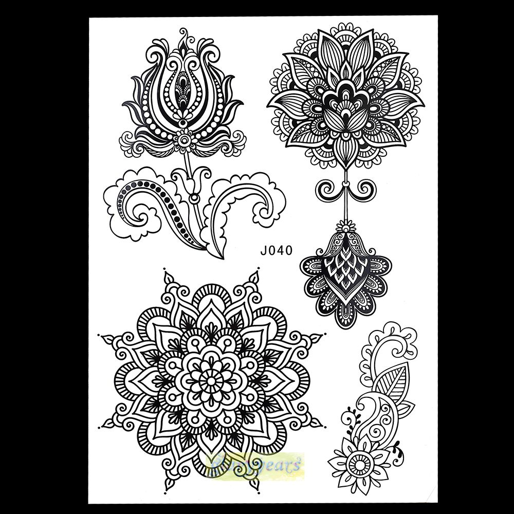 1pc new mixture picture designs for sexy women body beauty health new mixture picture designs for sexy women body beauty health henna lotus flower lace mehndi temporary tattoo paster izmirmasajfo Gallery