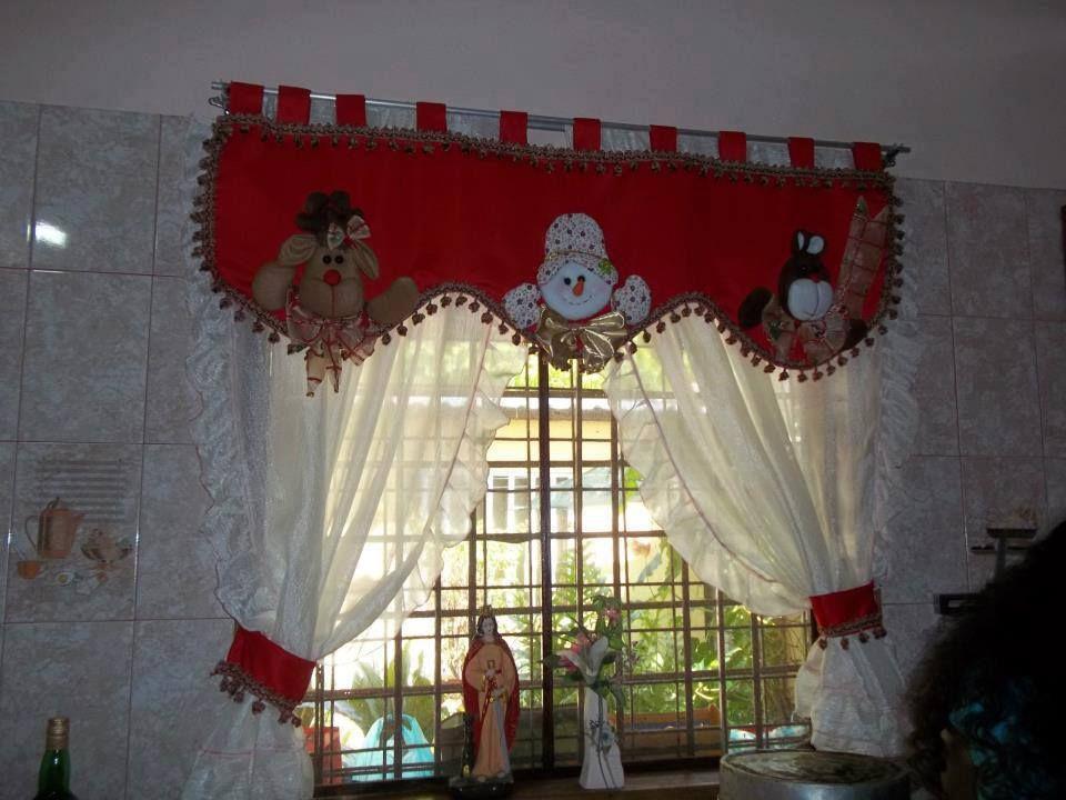 cortinas navideñas Navidad manualidades Pinterest Cortinas