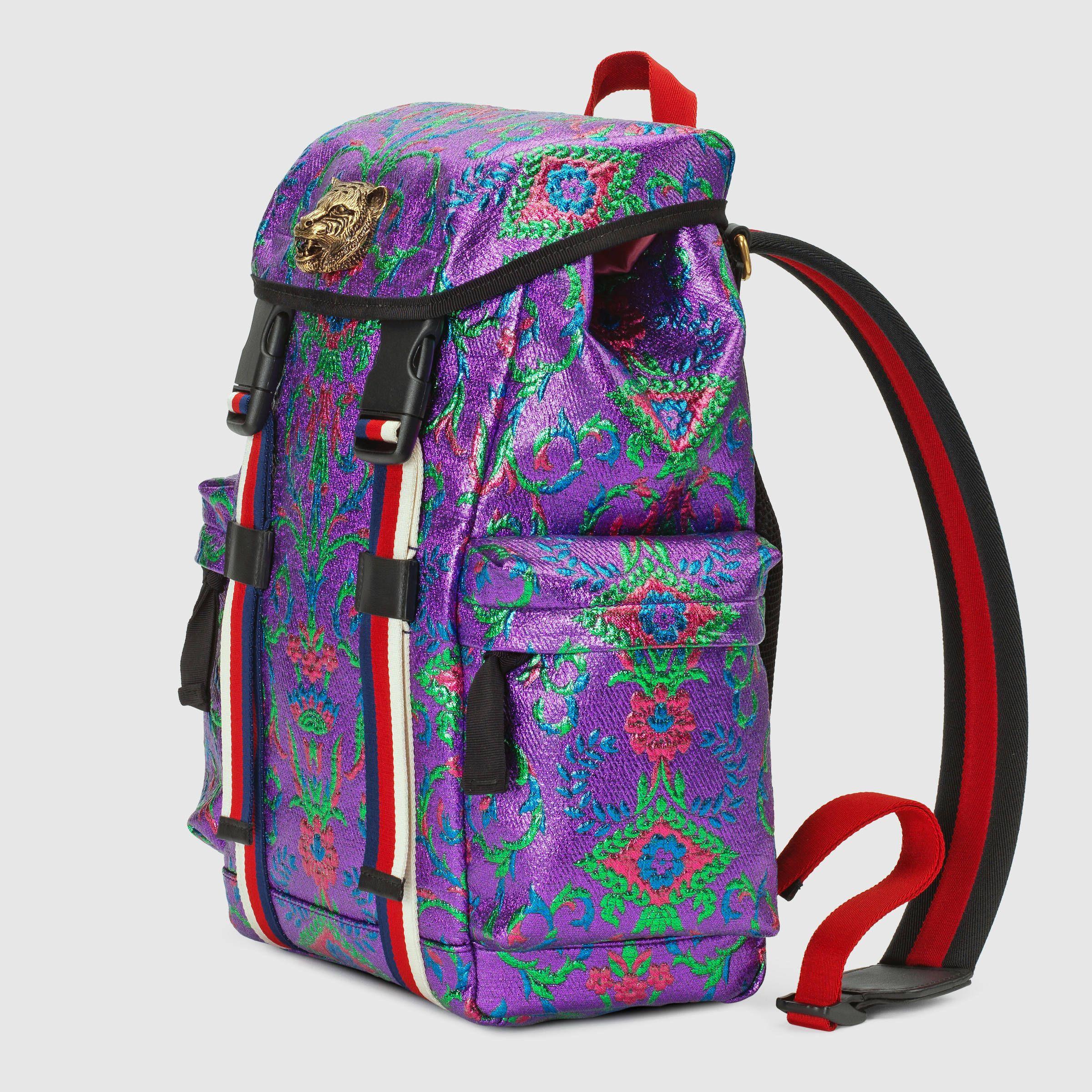 Gucci Multicolor brocade backpack Detail 2   bags   Pinterest ... 0cfbef2d4c