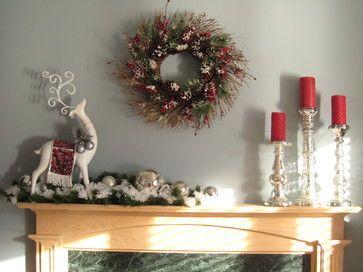 Christmas Decorations Contemporary christmas mantel - contemporary - family room - toronto - chic