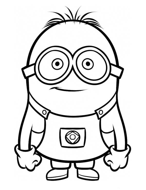 Dave The Minion Coloring Page Kids Play Color Minion Coloring Pages Minions Coloring Pages Cool Coloring Pages