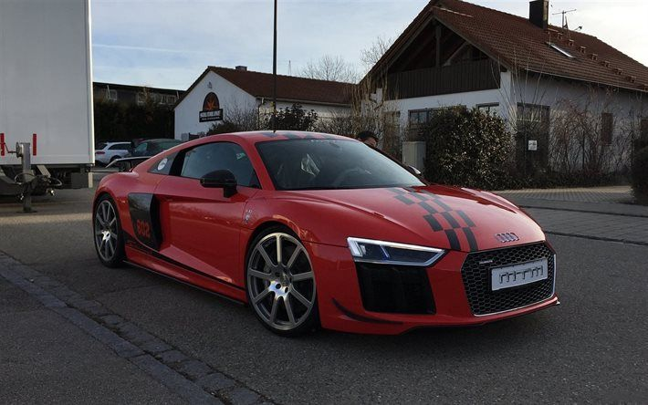 MTM, Tuning, Audi R8, V10 Plus, Supercars, Red R8, 2017