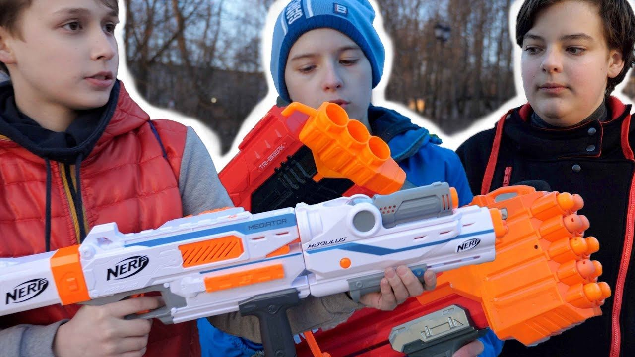 Nerf 2018 Modulus Mediator and Nerf Mega Tri-break