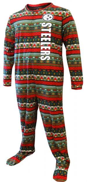 WebUndies.com Pittsburgh Steelers Christmas Guys One Piece Footie Pajama af430b97d