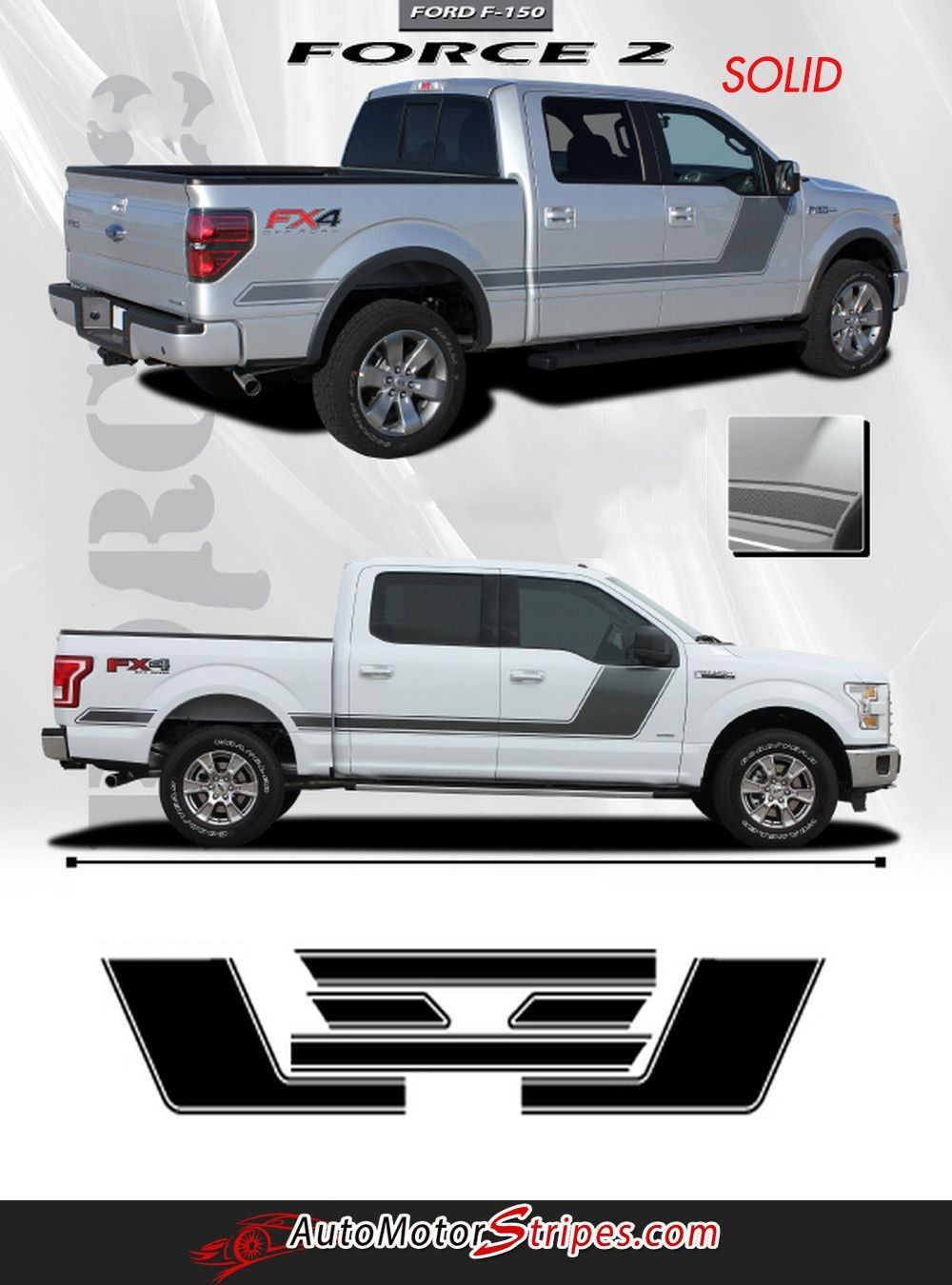 2015 2017 ford f 150 rig hood and tailgate blackout vinyl decal 3m graphic stripes tailgating hoods and ford