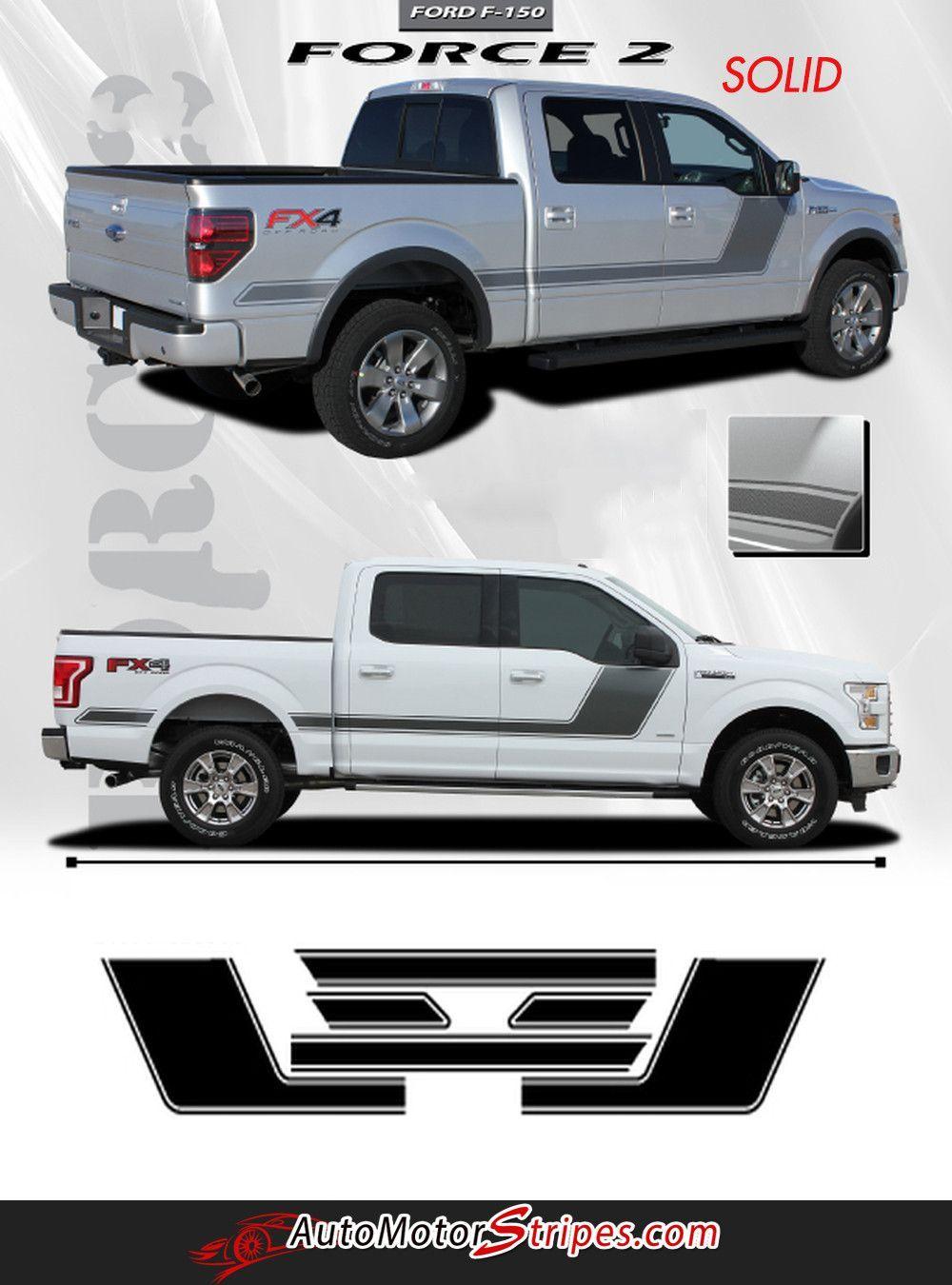 2008-2013 2014 Ford F-150 Hockey Side Stripes Graphics 03 F150