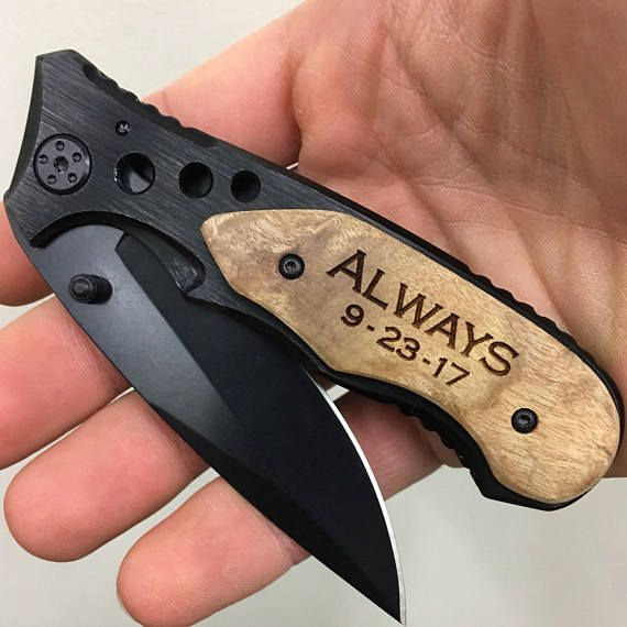 Personalized Knife, Gift for Groomsmen, Pocket Knife, Engraved Folding Hunting Knives, Groomsman Gift, Custom Knives, Groomsmen Knives