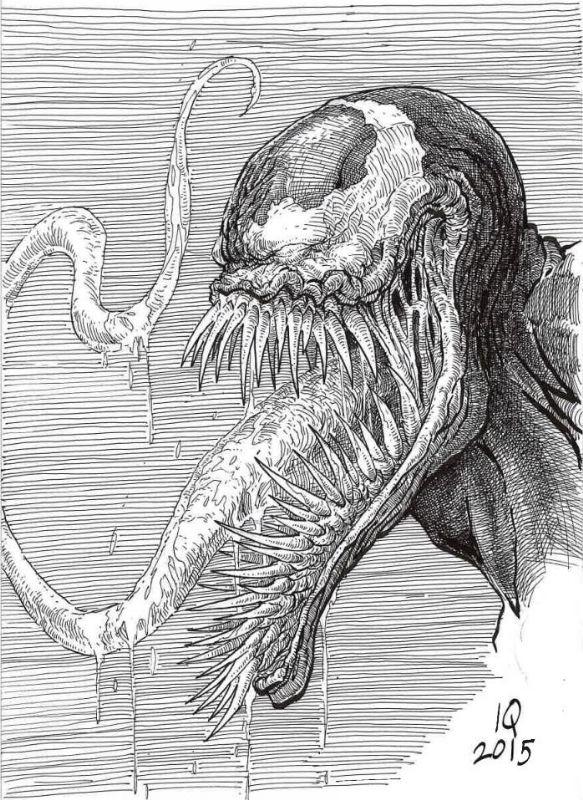 little Venom from Ian Comic Art | VENOM | Pinterest | Carbón, Lápiz ...