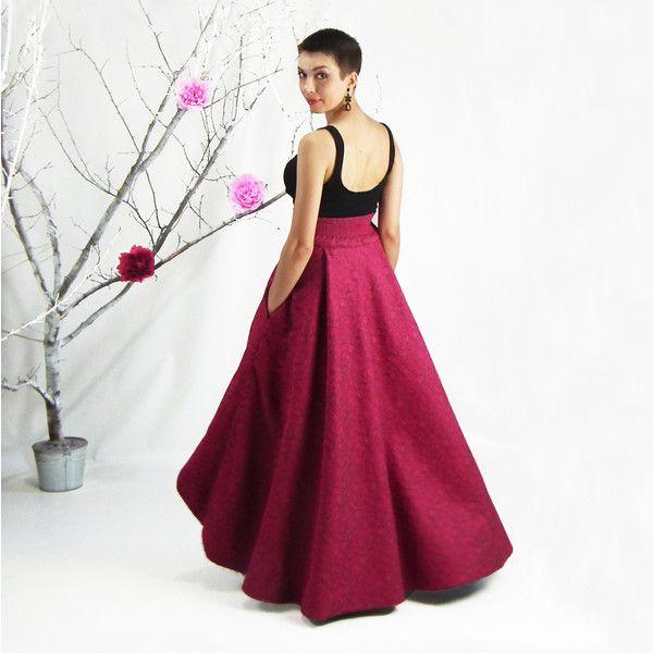 High Low Hem Skirt, Maxi Skirt, High Waisted Skirt, Plus Size Maxi ...