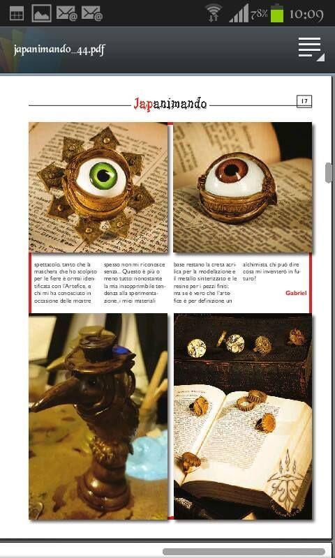 L' Artefice Dei Golem per JAPANIMANDO 2015-2016 nel numero 44 da pagina 14 in poi il suo articolo ^.^