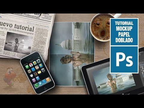 Tutorial Phothosp: mockup papel doblado by @ildefonsosegura - YouTube