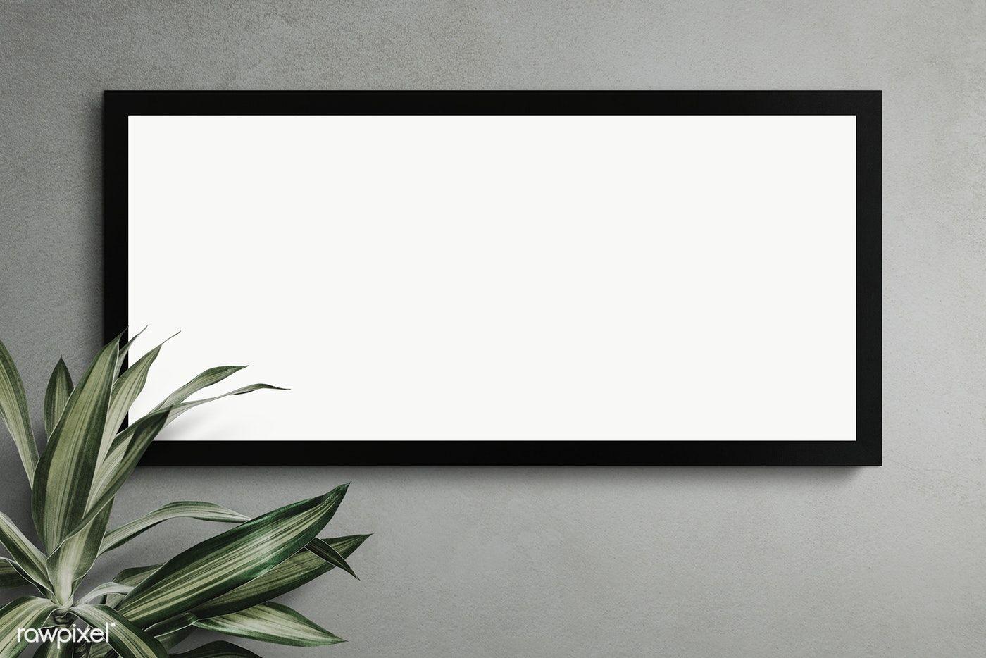 Black Frame Mockup On A Black Wall Transparent Png Premium Image By Rawpixel Com Awirwreckkwrar Frame Mockups Frames On Wall Red Picture Frames