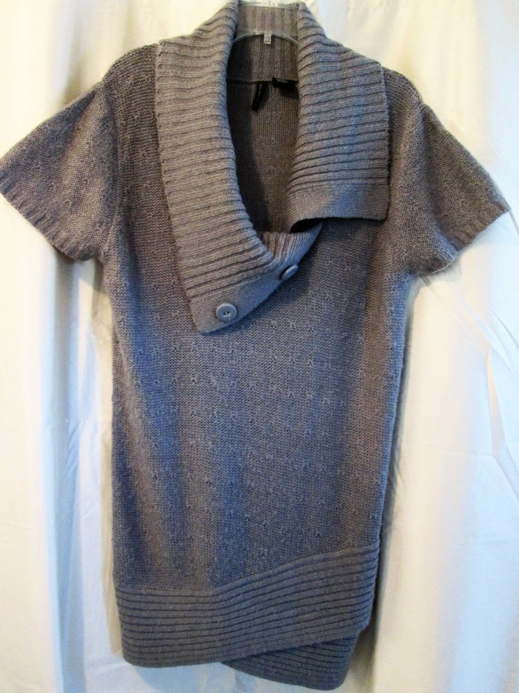 Sweater Dress New Directions Size Large Gray Cowl Neck Big ...