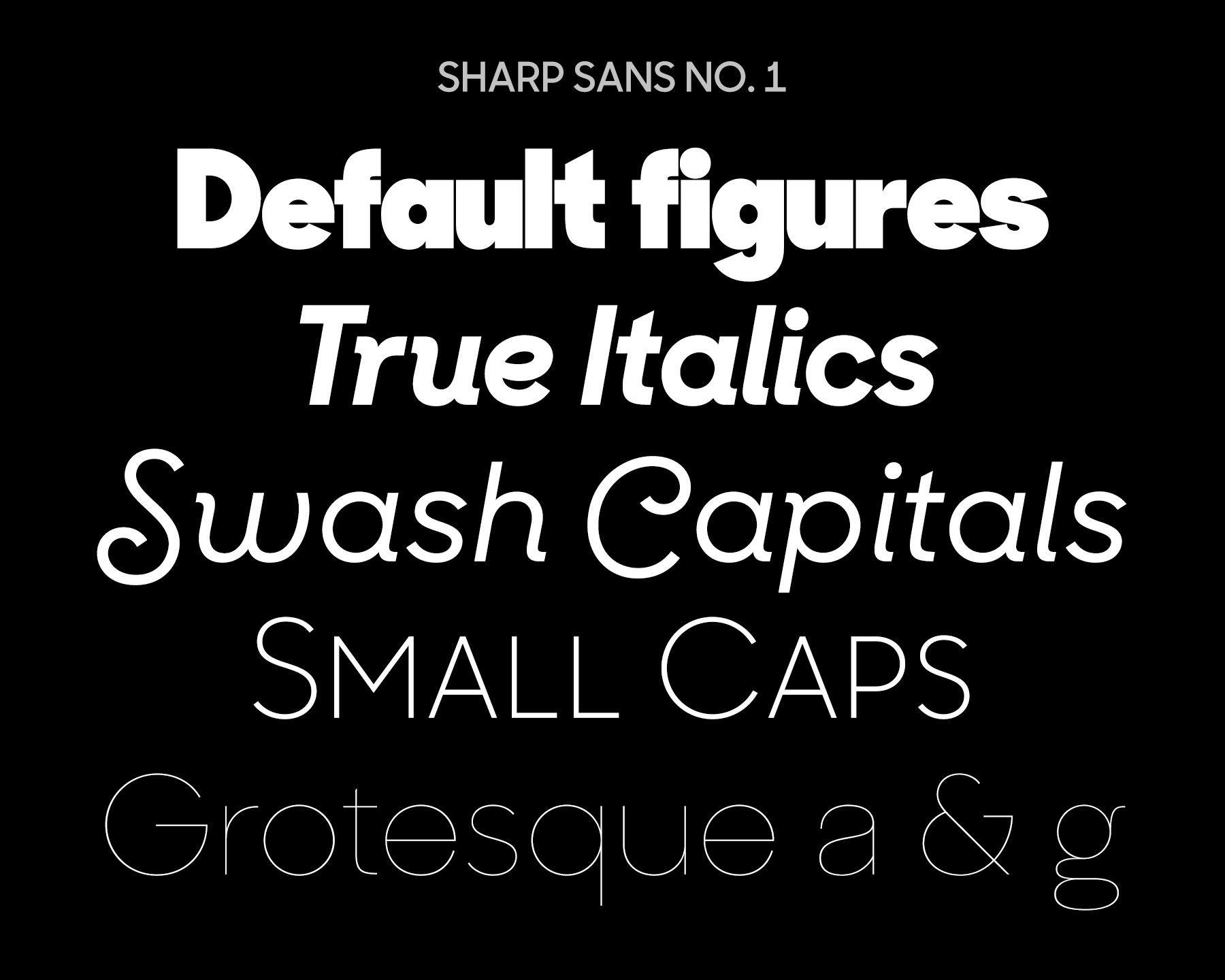 Sharp Sans No  1 by Lucas Sharp | Steal This Type