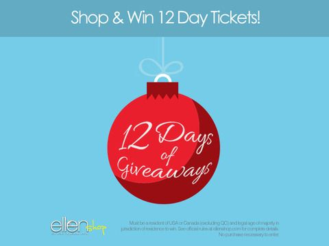 Ellen 12 Days Of Christmas Tickets.The Ellen Shop Is Giving Away Tickets To 12 Days Plus