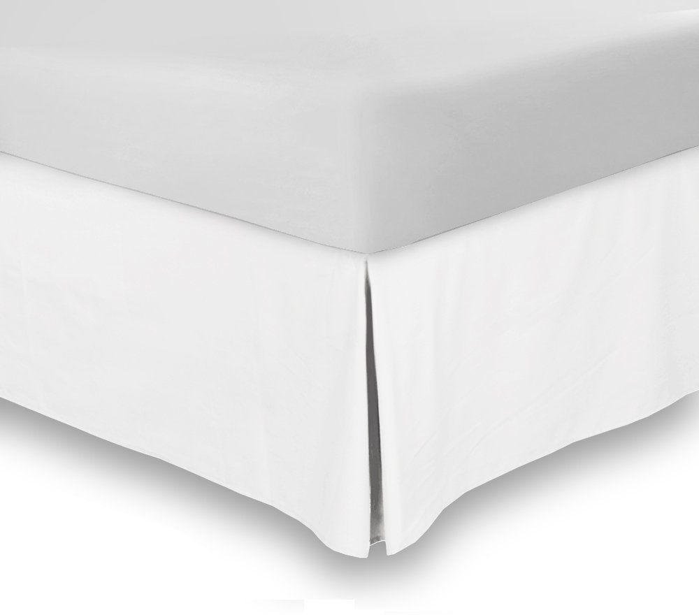 Bed Skirt Queen White 15 Inch Fall