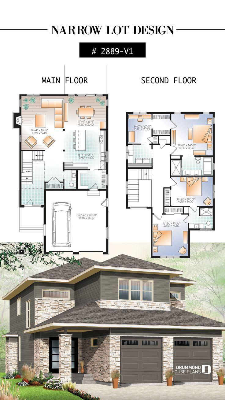 4 Schlafzimmer Modernes Wohndesign, Kinderzimmer neben dem Hauptschlafzimmer, offener Grundri ... - #largepantryideas