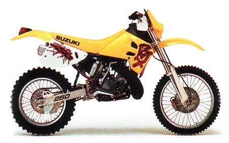 Suzuki Rm250 And Rmx250 Model History Suzuki Motocross Suzuki Dirt Bikes Motorcross Bike