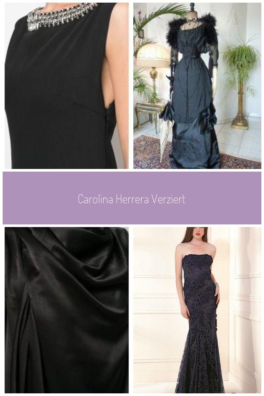 Carolina Herrera Verziertes Abendkleid - Schwarz Carolina