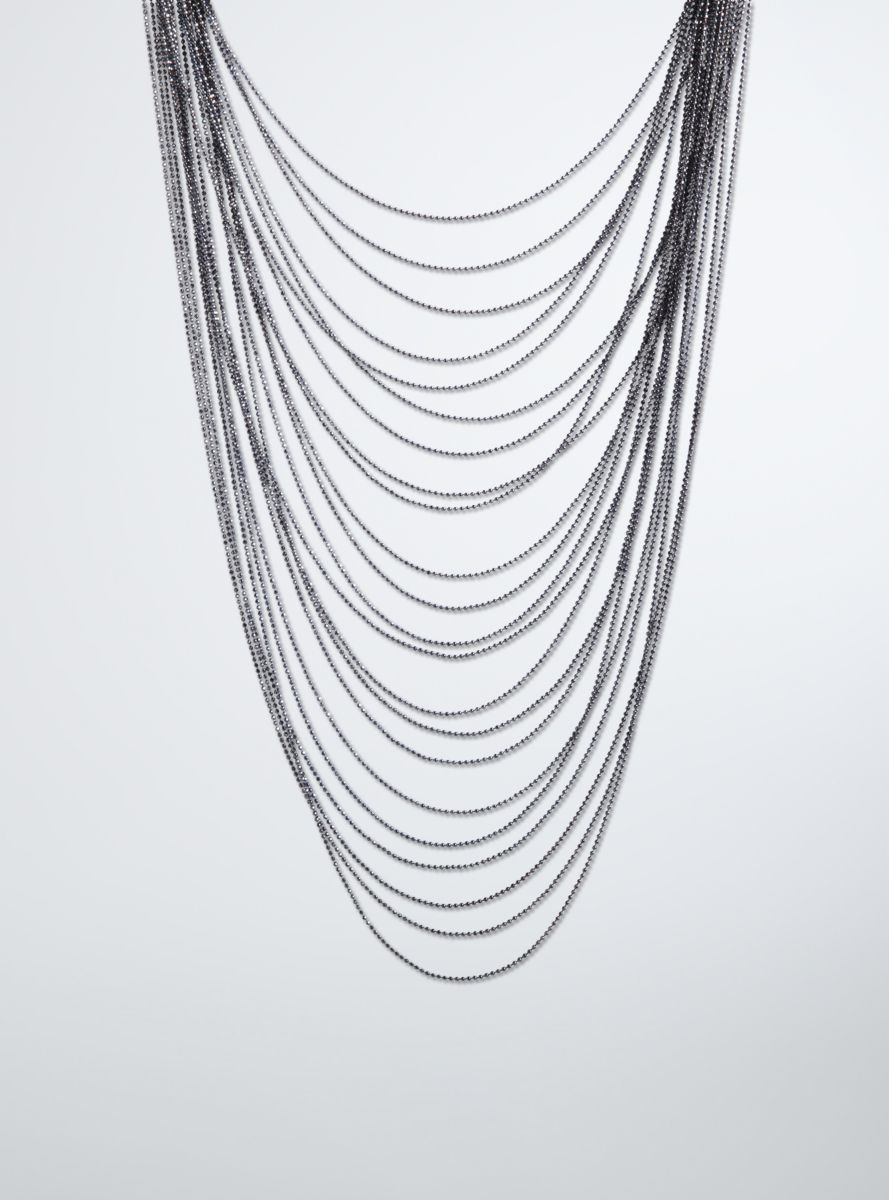 Sparkle Layered Necklace From the Plus Size Fashion Community at www.VintageandCurvy.com