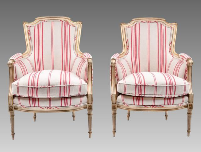 Bergère Chair Style Definition: an upholstered armchair with CLOSED SIDES  that are usually upholstered, - Know Your Upholstered Chair Styles Rococo, Armchairs And Antique