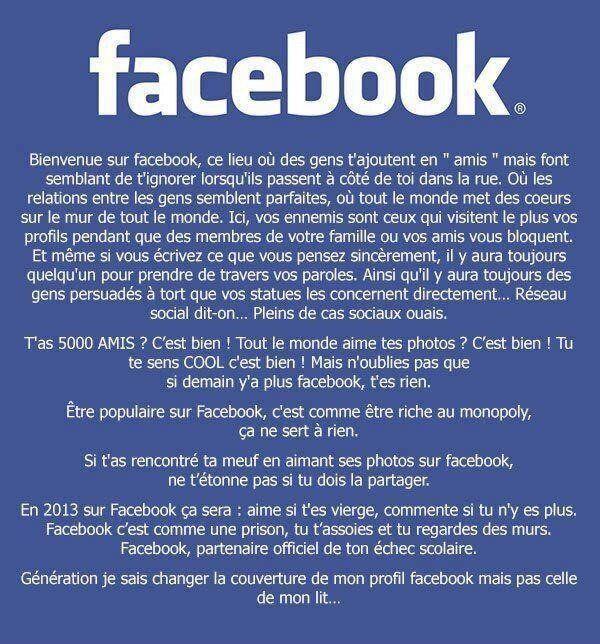 Facebook n'est pas un site de rencontre - Imparfaites