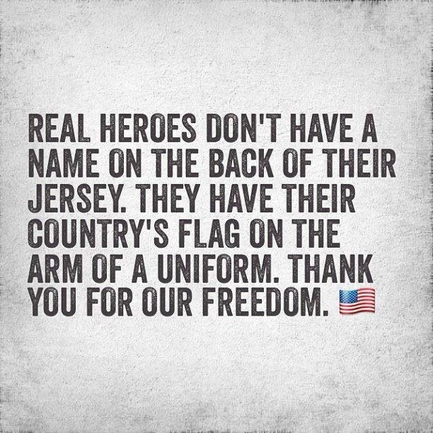 They deserve our respect, always. They are the sole reason we have Freedom! How are there Americans who do not understand this? Honor our forefathers and our military who are responsible for the freedom we have and should never take for granted. deserve our respect, always. They are the sole reason we have Freedom! How are there Americans who do not understand this? Honor our forefathers and our  military who are responsible for the freedom we have and should never take for granted.